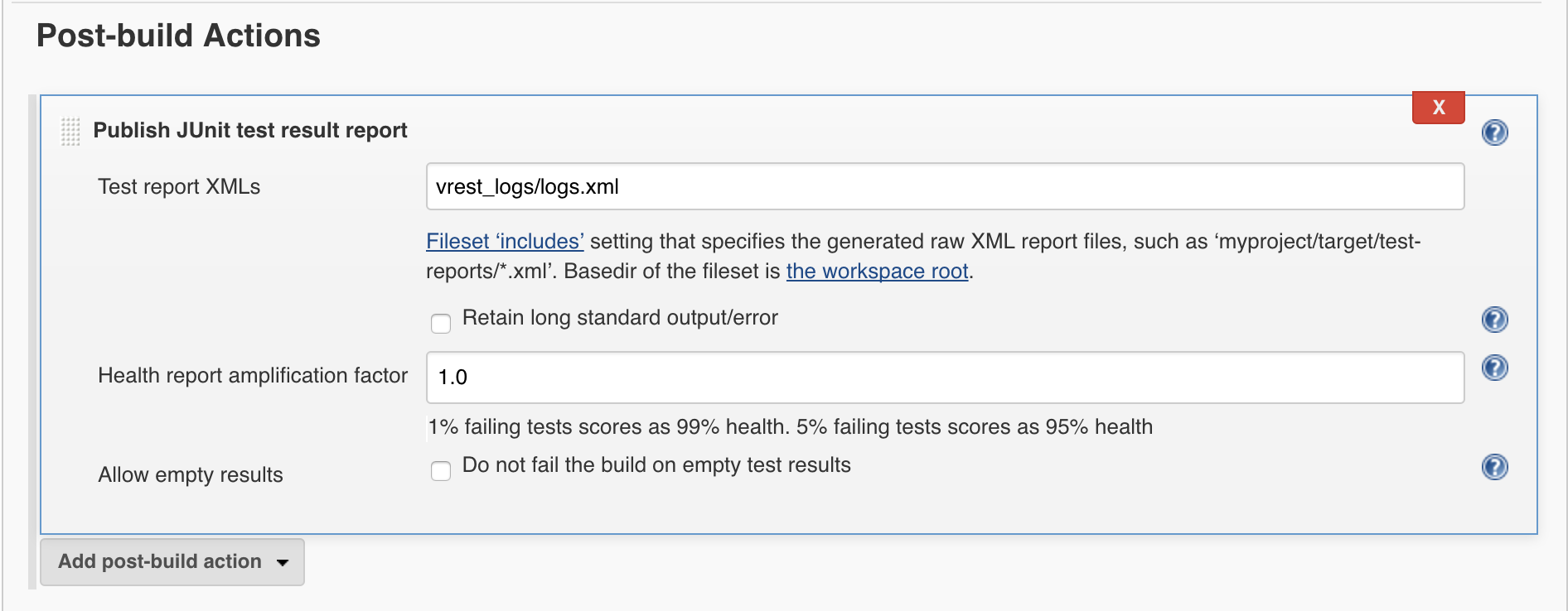 Jenkins Server - vREST Documentation - Optimizory Documentation